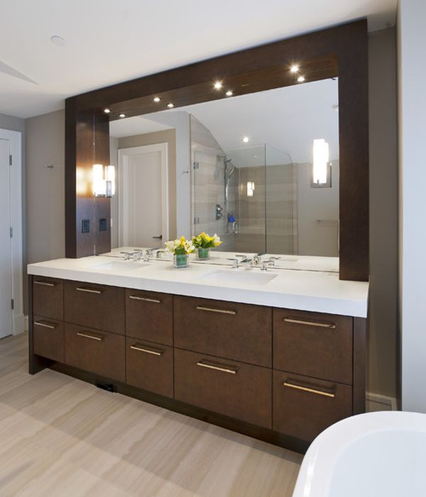 Bathroom Mirror Ideas Double Vanity custom bathroom mirrors. . home frameless glass u0026 best windows