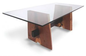 custom cut glass table tops by Hopkins Glass and Shower Door