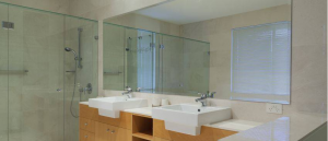 frameless glass shower doors by Hopkins Glass