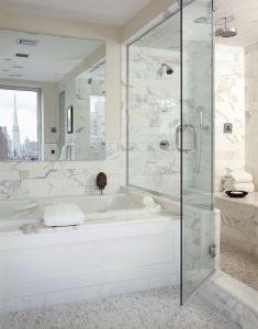 glass shower doors modern bathroom design