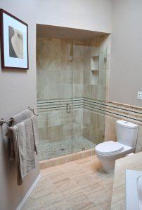 walk-in shower modern glass shower door design