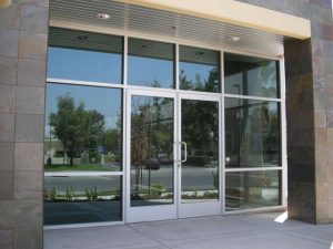 commercial storefront entrance Hopkins Glass and Shower Door Minnesota MN