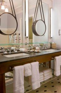 custom cut round bathroom vanity mirror Hopkins Glass and Shower Door Minnesota