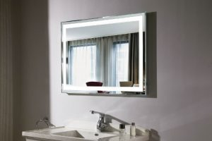 custom cut bathroom vanity mirror Hopkins Glass and Shower Door Minnesota