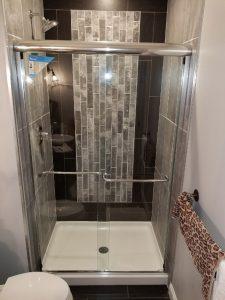semi frameless sliding glass shower door