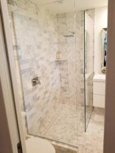 framless glass shower panels