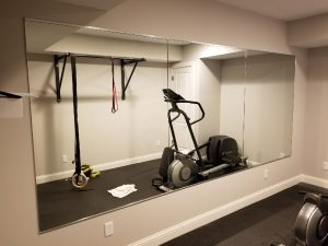 custom cut gym mirror by Hopkins Glass Minnesota MN